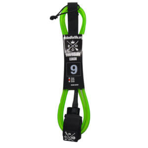 Stand Up Paddle Board Leash 9 fuss green