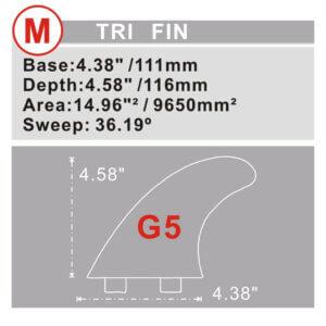 Dual Tap | FCS kompatible Finnen Kunstoff pink und hellblau G5 Thruster 4″ 5/8