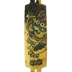 RIVIERA Kung Fu Kitty Longboard-komplett natural