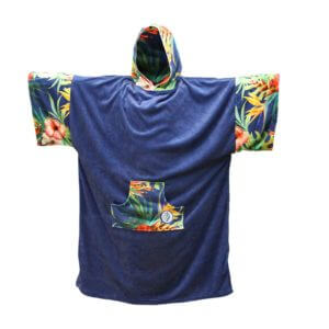 Change Robe Surf Poncho MADNESS Navy-Flower