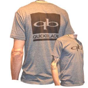 Quickblade T-Shirt grau | schwarzer Druck