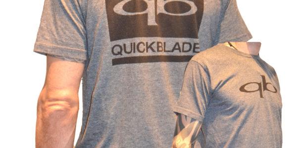 Quickblade T-Shirt grau   schwarzer Druck