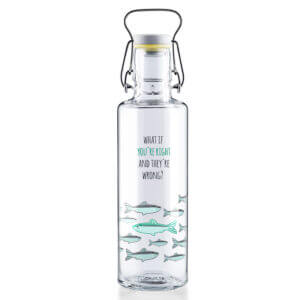 "Soulbottle ""You're right"" 0,6l Glastrinkflasche"