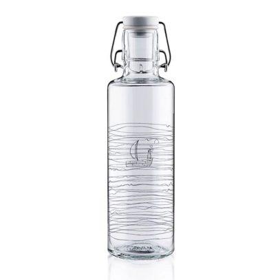 Soulbottle Heimat.Wasser Glasflasche