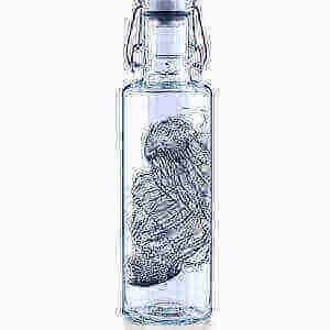 """""""Jellyfish in the Bottle"""" nachhaltige-Glas-Trinkflasche"""