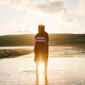 "Northcore ""Beach Basha"" stripeychanging robe red"