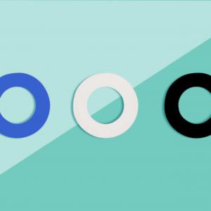 Soulbottles 3er Pack Dichtgummis, blau, schwarz, weiß