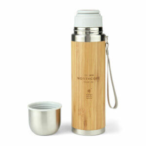 Northcore Bambus 360ml Thermosflasche mit Becher